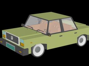 卡通汽车 卡通车 卡通桥车 低模汽车 轿车 3d模型