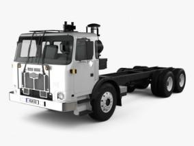 Autocar ACX 底盘卡车 Max+C4D+Maya 3D模型