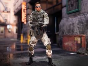 ue4 超高质量人物 恐怖武装人员 高级蓝图 带绑定动画 外国士兵 虚幻4