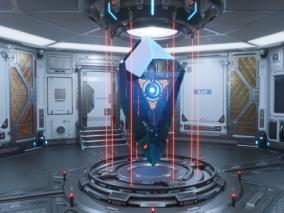 ue4 4.26版本 超级科幻传送室 未来基地 激光装置 太空装置 太空舱 虚幻4