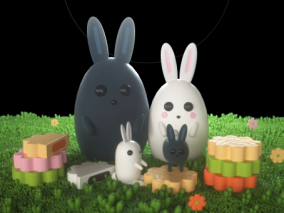 卡通兔子 小兔子 兔子 卡通动物