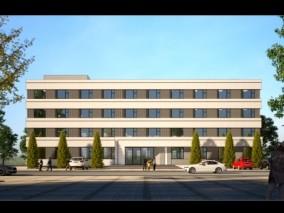 四层办公楼 3d模型