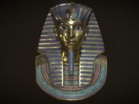 黄金面具 次世代 法老面具 PBR 古董 博物馆收藏品 埃及法老 陪葬品 图坦卡蒙 盗墓素材