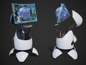 PBR 科幻 桌面控制台 多功能指挥台 战舰控制台 全息投影 科幻控制台 指挥台 司令台 显示台