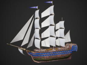 古代帆船 货船 远洋船 大航海时代战舰 帆船 中世纪战船 西方战船 欧洲战船 英国战舰 航海战舰