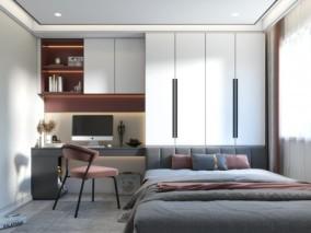 榻榻米房 卧室 3d模型