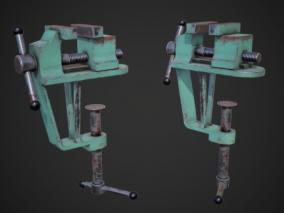 次世代 PBR 重型虎钳 写实 五金 台式虎钳 台虎钳 桌虎钳 3d模型