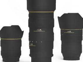 镜头组 摄像机 单反摄像头单反 高清渲染 镜头 相机镜头 18-135mm镜头  3d模型