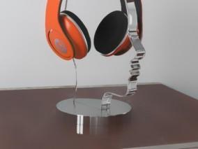 头戴无线耳机 耳放 耳麦 音响设备 耳套 电脑MP3降噪耳机 pbr电子产品 3d模型