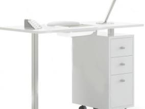 柜子 台灯 桌面办公电脑组合显示器 键盘 鼠标 桌面饰品 办公桌面场 3d模型