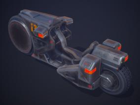 PBR 创战纪 科幻摩托 交通工具 浮空车 未来概念摩托车 太空高科技 3d模型
