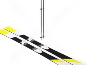 滑雪板 滑翔滑板 滑雪板 高山板 拖车 滑板车代步车街头滑板 3d模型