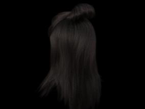 发型  丸子头