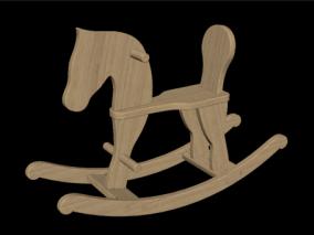 儿童玩具马 木马 孩童玩具 摇摇椅 摇摇木马 木马玩具 儿童玩具 3d模型