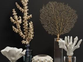 现代珊瑚饰品摆件 VR+CR 3D模型