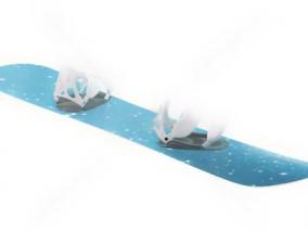 滑雪板 滑翔滑板 滑雪板 高山板 拖车 滑板车代步车街头滑板 (2) 3d模型