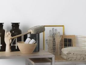 玻璃瓶模型碗模型毛巾模型手模型