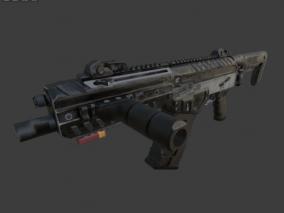 枪支  枪  武器  科技步枪 3d模型