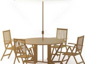 椅子 桌子 伞 桌椅 餐桌 家具 休闲椅子 茶坊椅子 椅子 茶几 桌子 3d模型