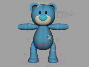 maya表情绑定卡通熊玩具小熊