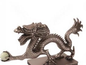 装饰品龙 摆件  龙 云龙 盘龙 神龙 海怪 海龙 摆件 文物 工艺品01 3d模型