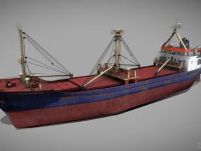 PBR 工程船 救援船 铺管船 运输船 救生船 起重船 浮吊船 作业船 3d模型