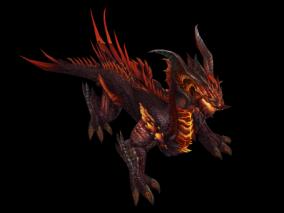 恶魔巨龙 动画 游戏模型手游 写实角色 暗色系 怪物boss 魔兽世界 暗黑魔幻 欧美风 翅膀坐骑