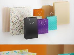 礼品袋 纸袋 包装袋 手提袋 3d模型