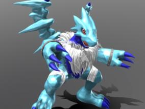 冰晶苍龙兽 3d模型