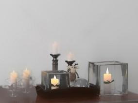 蜡烛 装饰  灯具  3d模型