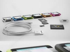 USB数据线 苹果充电线 mp3mp4 充电器 3d模型