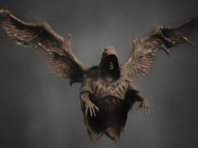 人像 石像 翅膀石像