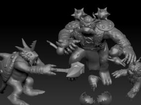 数码宝贝 比兹兽 布加兽 哥玛兽 海狮兽 祖顿兽 维京兽 3d模型