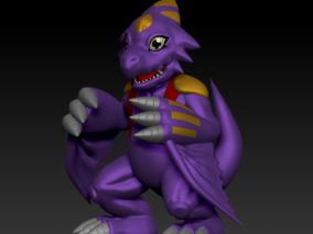单角龙兽 3d模型