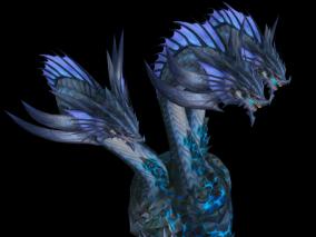 海德拉  动画 游戏模型手游 写实角色 欧美风 翅膀坐骑 3d模型
