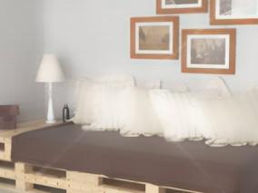 沙发 枕头 台灯相框