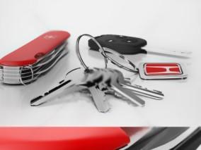 瑞士刀 车钥匙 钥匙串