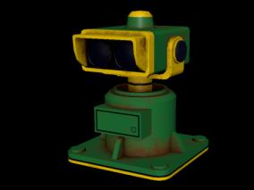 双筒望远镜 望远镜 卡通望远镜 摄像头 监控设备 双摄像头 3d模型