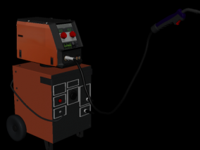混合焊接设备 焊接机器 焊枪 电焊器 工厂焊接 混合焊接 电气设备 3d模型