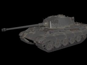 虎式二战德军装甲车 坦克车 防御重型二战坦克 老式坦克 3d模型