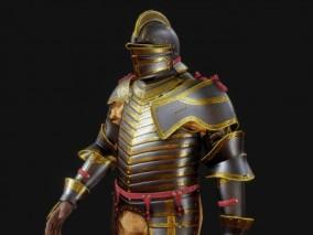 次时代 高质量 盔甲 国王铠甲 国王 金边 中世纪 骑士OBJ FBX MAX 八候 3d模型