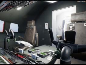 ue4 带内饰 详细真实内景 波音747 客机 飞机 驾驶室 航空设备 虚幻4