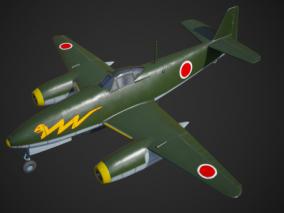 PBR橘花特殊攻击机 日本262Kikka 中岛 喷气日二战 NE-12B 3d模型