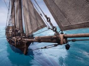 ue4 超高质量 帆船 海盗船 海洋运输工具 细节丰富 虚幻4