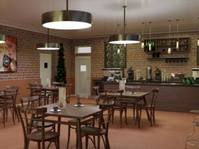 咖啡屋   咖啡厅   咖啡馆   3d模型