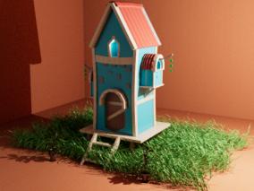 卡通建筑 3d模型