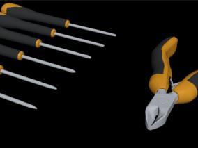 螺丝刀 偏口钳 五金工具 虎钳 螺丝刀 十字螺丝刀 平口螺丝刀 钳子 电线钳子 钢丝钳