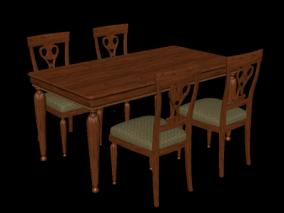 椅子 木头椅子 靠背椅子 中式椅子 椅子 木椅子 中式凳子  复古 3d模型