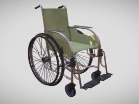 残疾人轮椅 手推车 折叠式轮椅 医疗器材 老年人轮椅 器械 3d模型