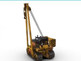 推土机 铲车 推土车 工程车 铲土机 挖掘机 工程机器 挖土机 铲土车  3d模型